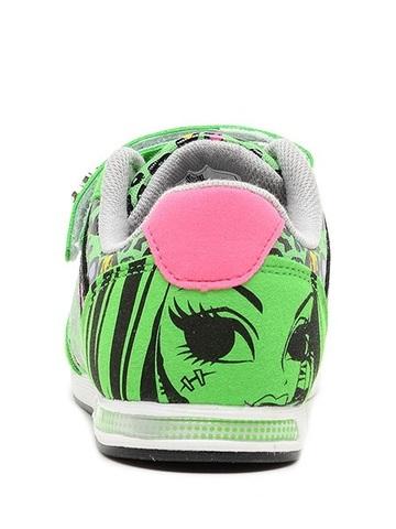 Кроссовки Монстер Хай (Monster High) на липучке для девочек, цвет зеленый. Изображение 5 из 8.