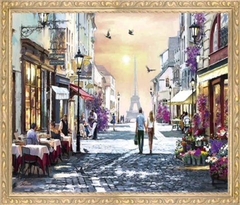Алмазная Мозаика 50x65 Прогулка по улицам города