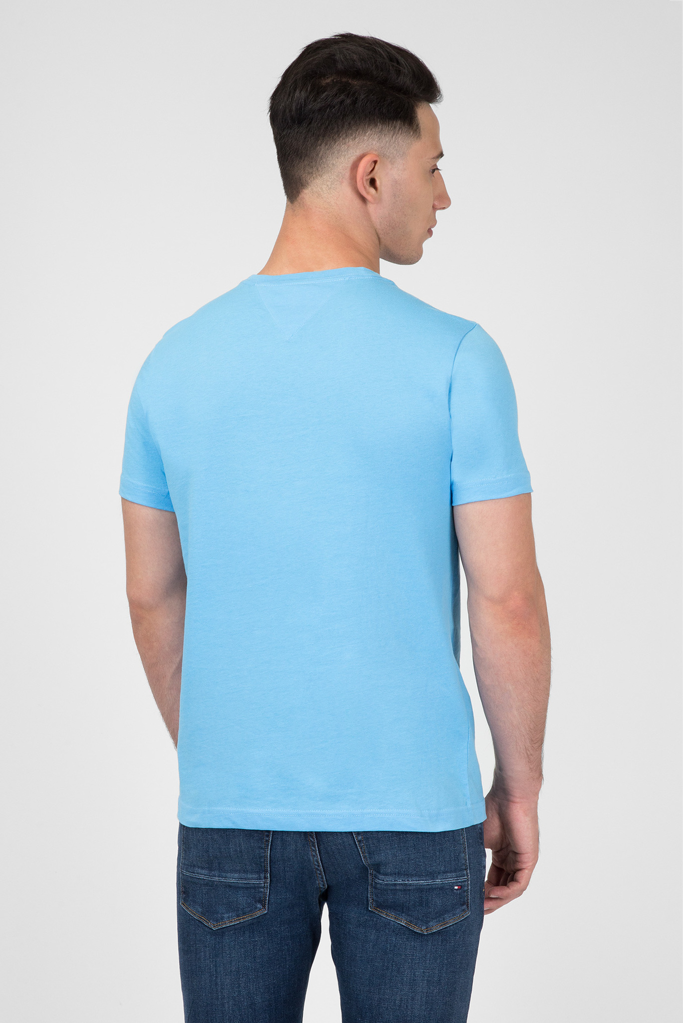 Мужская голубая футболка с принтом Tommy Hilfiger