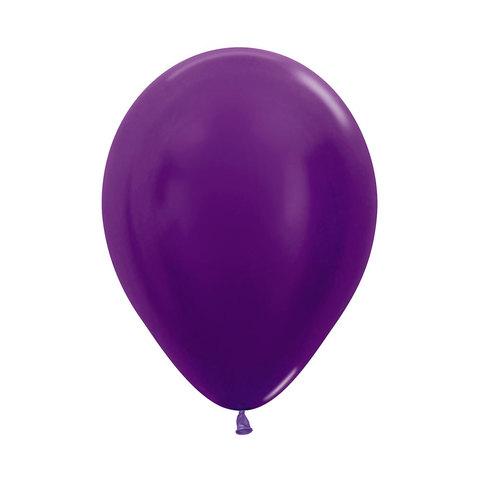 Латексный воздушный шар, цвет фиолетовый металлик