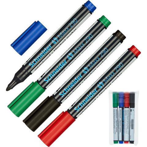 Набор маркеров для досок и флипчартов SCHNEIDER Maxx 290 набор 4цв. 2-3 мм
