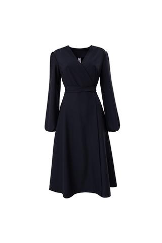 Платье на запах с рукавами-фонариками