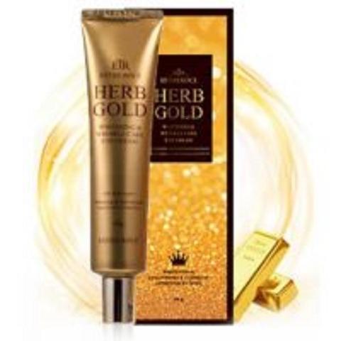 Deoproce Estheroce Herb Gold Whitening & Wrinkle Care Eye Cream омолаживающий крем для глаз с золотом и лекарственными экстрактами