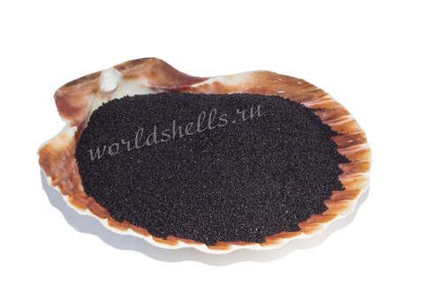 Черный цветной песок 300 гр.