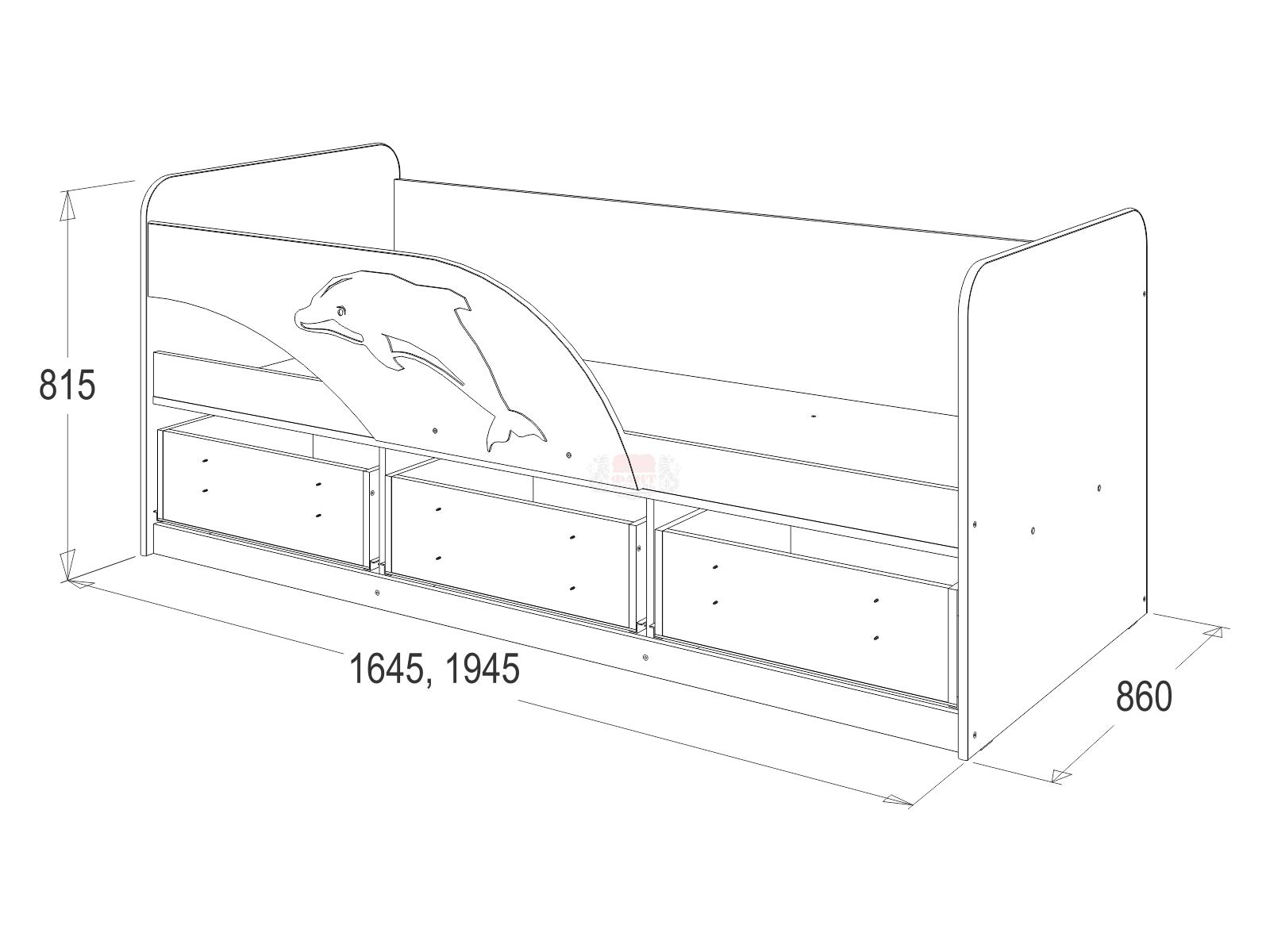 Кровать №11 с ящиками