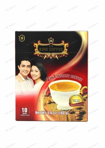 Вьетнамский растворимый кофе King Coffee, 3 in 1, 10 пак.
