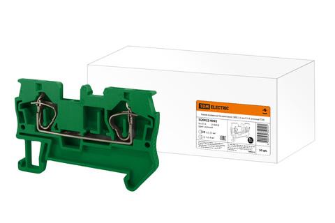 Зажим клеммный безвинтовой (ЗКБ) 2,5 мм2 31А зеленый TDM