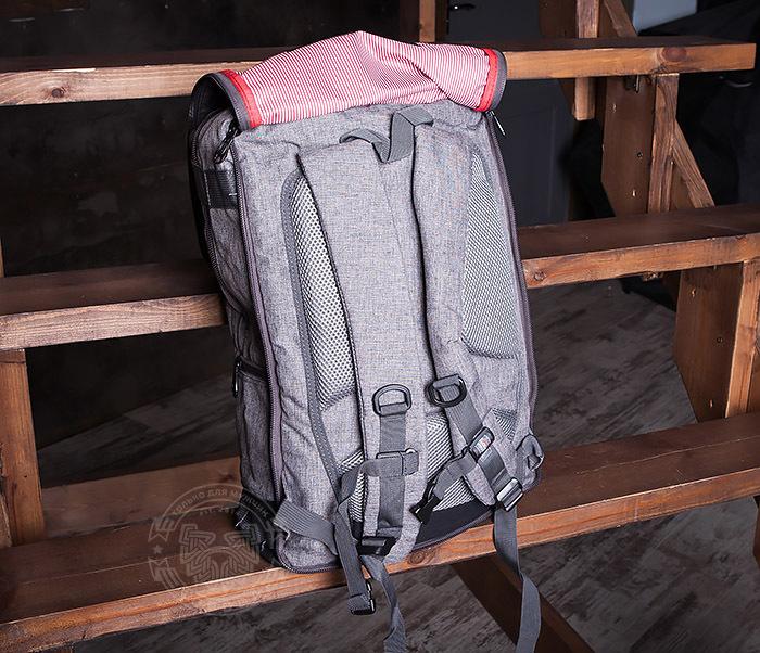 BAG405-2 Вместительный мужской рюкзак трансформер сумка для города из ткани фото 10