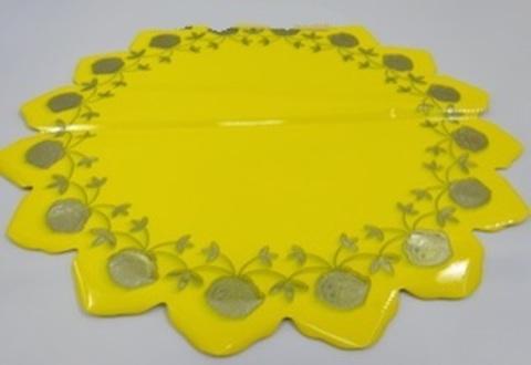Салфетка Розочка (d=60см, упак.= 50 шт.) Цвет: желтый