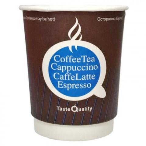 Стакан одноразовый Taste Quality бумажный коричневый 250 мл 25 штук в упаковке