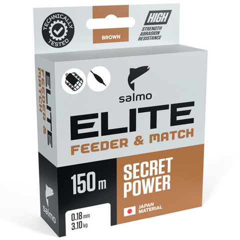 Леска монофильная Salmo Elite FEEDER & MATCH 150м, 0.30мм