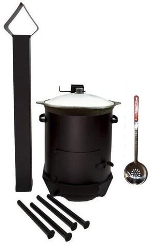 Печь под казан с дымоходом 22 литра