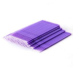 Микробраши для ресниц, цвет фиолетовый, 100шт в пакете
