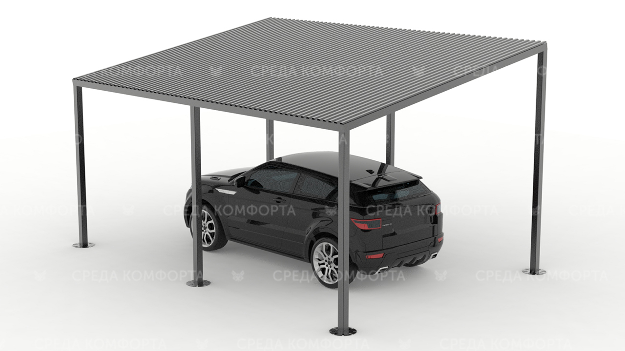 Навес для автомобиля (длина 6  м ширина 4 м высота 3 м) AVNVS0010