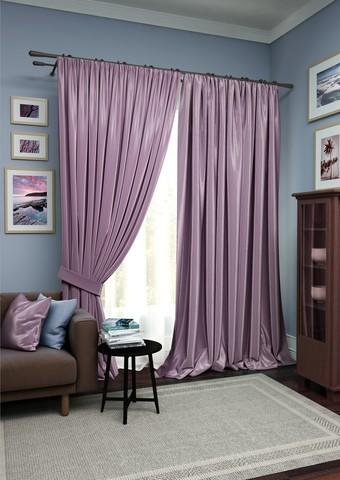 Комплект штор Авери с тюлем нежно-фиолетовый