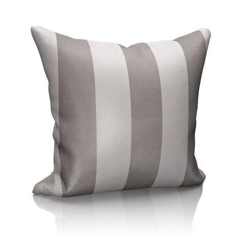 Подушка декоративная блэкаут Ядвига серый с полосой