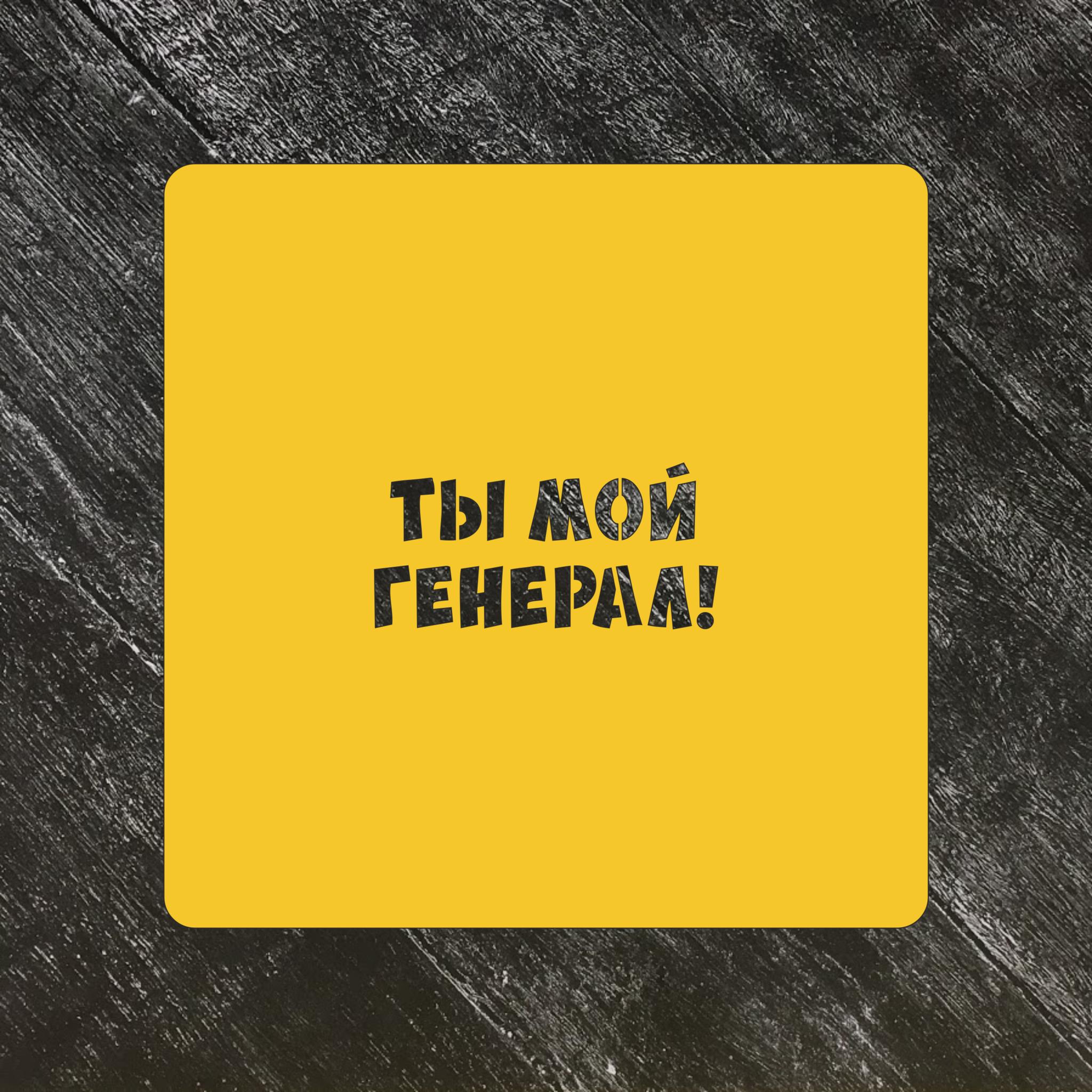 Трафарет 23 февраля №13 Ты мой генерал
