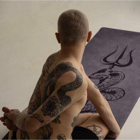 Коврик для йоги Shiva PRO из микрофибры и каучука,  200*68*0,3 см