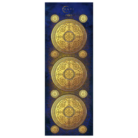 Коврик для йоги Sati 173*61*0,1-0,3 см из микрофибры и каучука