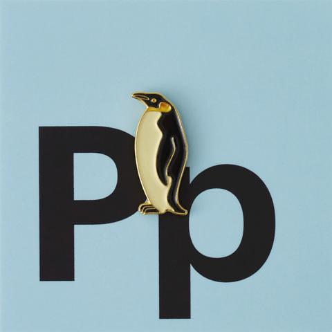 Значок металлический Зоопарк: Пингвин