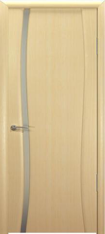 Дверь Буревестник-1 стекло белое (беленый дуб, остекленная шпонированная), фабрика Океан