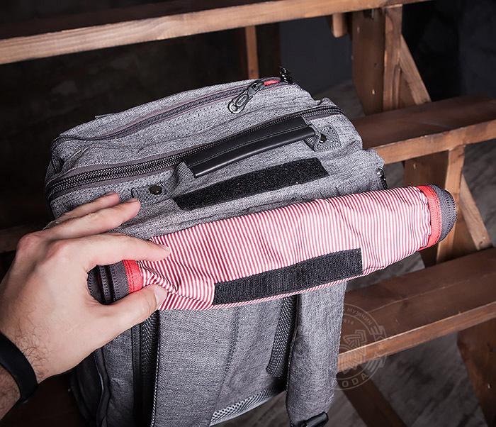 BAG405-2 Вместительный мужской рюкзак трансформер сумка для города из ткани фото 12