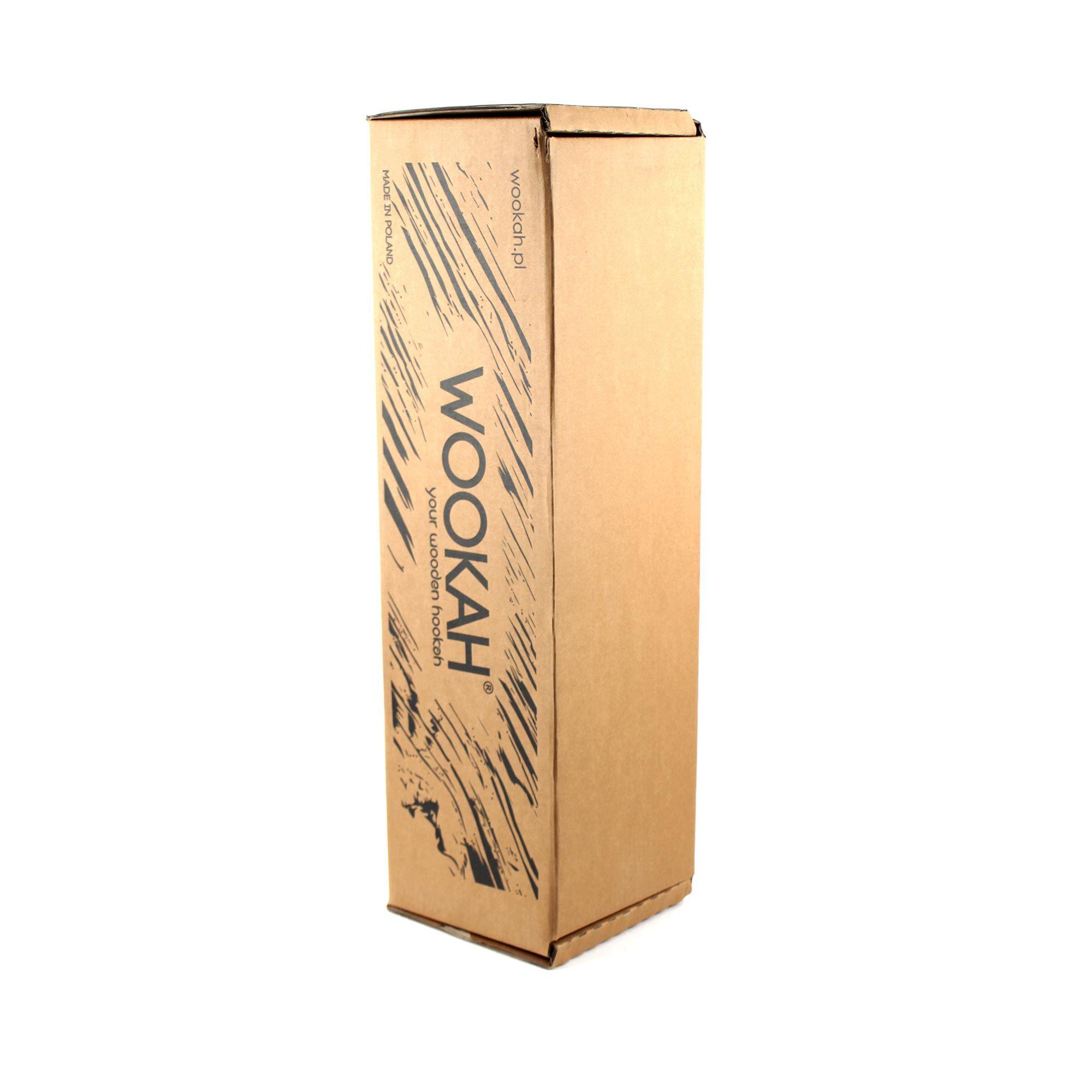 Фирменная коробка кальяна Wookah White-Black с колбой Smooth