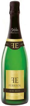 Вино игристое Ферриоль белое полусухое защ.наим.места происх.кат.Д.О., рег. Кава 0,75л.(6)