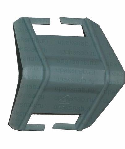 Уголок пластиковый защитный с пазом, прямой угол, до 19 мм