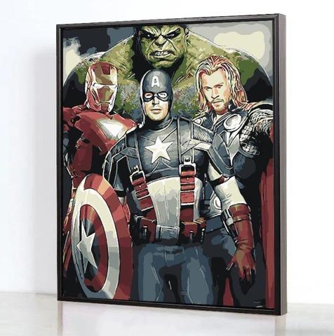 Картина по номерам на холсте Мстители, 40см*50см
