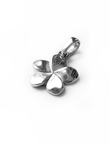 Серебряная подвеска-цветок