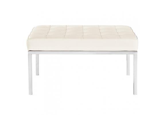 Скамья Florence Knoll Style Bench белая кожа - вид 3