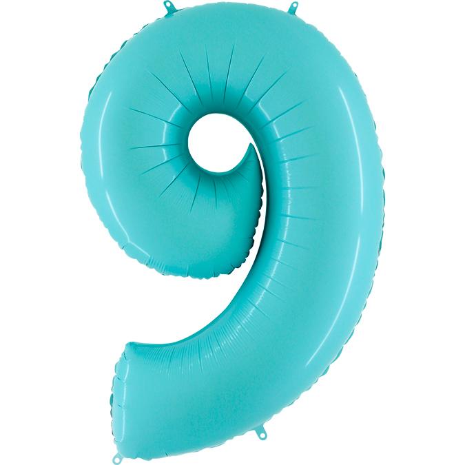 Голубая цифра 9