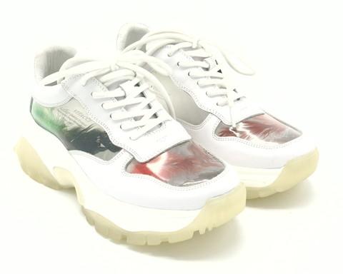 Кроссовки белые с прозрачными вставками