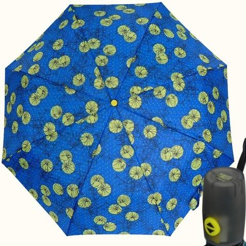 Купить  женский синий  зонт автомат с цветами