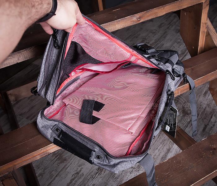 BAG405-2 Вместительный мужской рюкзак трансформер сумка для города из ткани фото 13