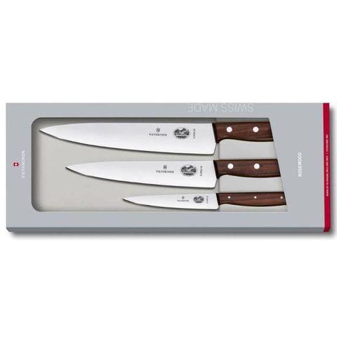 Набор ножей для кухни Victorinox Wood (5.1050.3G) 3 шт коричневых