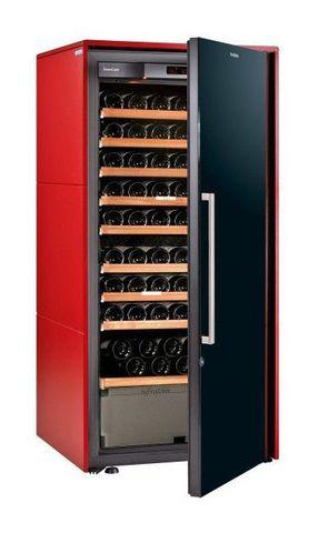 Винный шкаф EuroCave D Collection M красный сатин, сплошная дверь, максимальная комплектация
