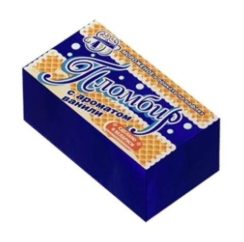 Мороженое пломбир с ароматом ванили в брикете на вафлях 90 г. Минск