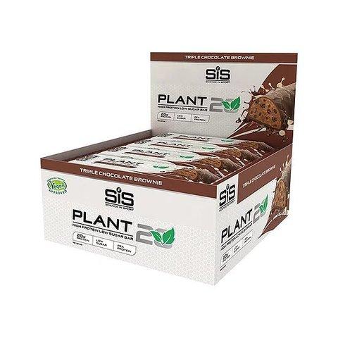 Протеиновый батончик SiS PLANT20 Bar Triple Chocolate Brownie, упаковка 12х64g
