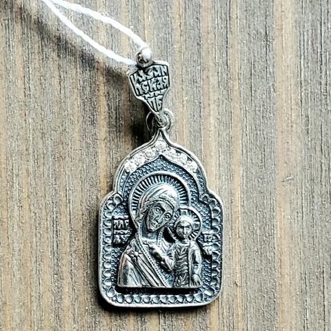 Икона нательная серебряная Божия Матерь Казанская
