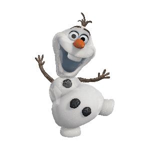 Фольгированный шар Снеговик Олаф 63см