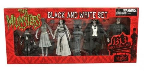 Munsters Black & White Figure Set