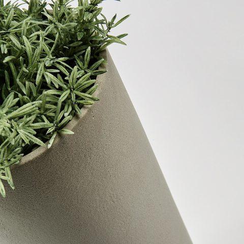 Stefy Комплект 2 вазы цемент серый коричневый
