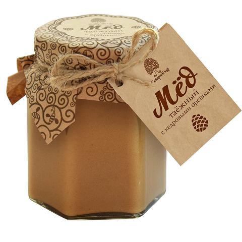 Мед с кедровыми орешками / 220 г