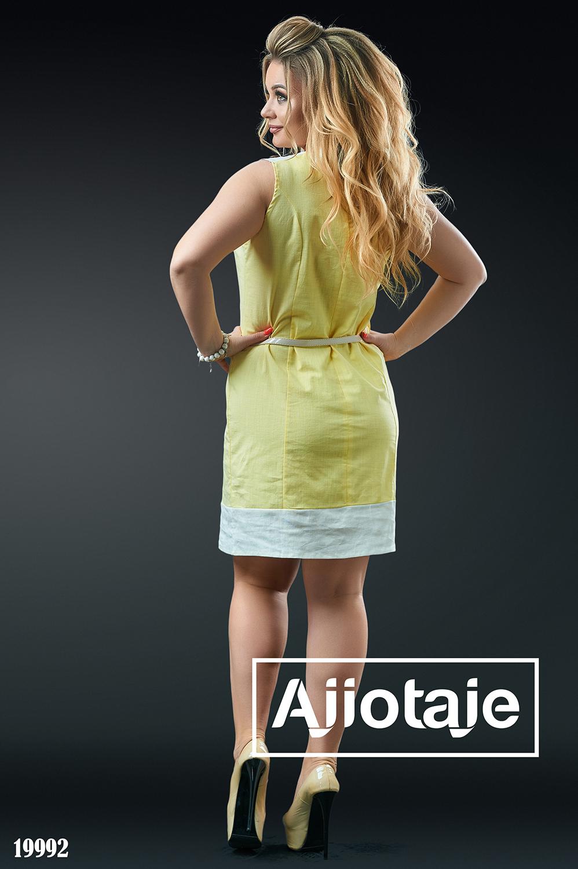 Льняное платье миди с тоненьким ремешком