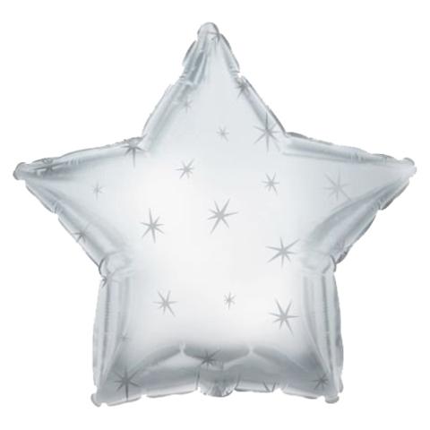Звезда Серебряная Искры, 45 см