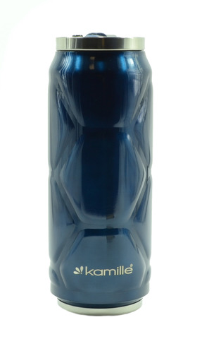 Термобанка с трубочкой Kamille 500 мл. синий