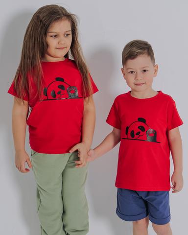 Футболка PANDA, цвет красный