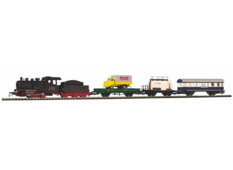 PIKO 97923 Стартовый набор «Грузовой состав с паровозом и тремя вагонами» СЖД